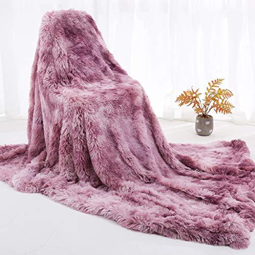SCDZS Elegante, Flauschige Decke Doppellagige, weiche Batikdruckdecke Komfortable,...