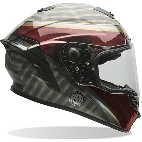 Preisvergleich Produktbild Bell Helme Street 2017 Star Erwachsene Helm,  RSD Blast Dark Rot / Schwarz,  Größe XL
