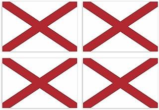Kiwistar Aufkleber 4,5 x 3 cm Alabama Montgomery   Bundesstaat Autoaufkleber USA Flagge Länder Wappen Fahne Sticker Kennzeichen