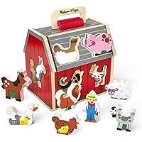 Melissa & Doug Wooden Take-Along Sorting Barn Toy