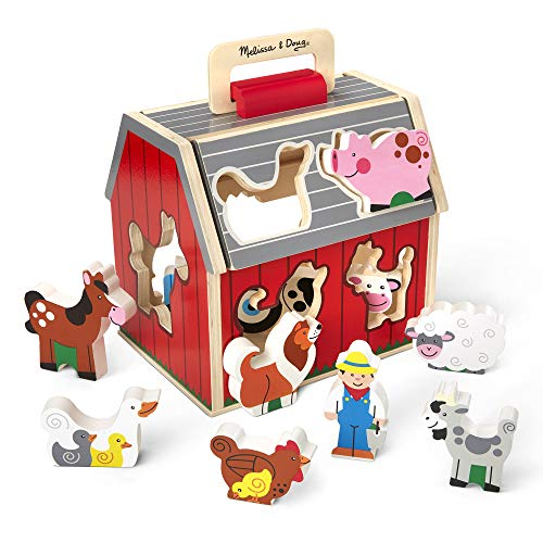 Melissa & Doug Take Along Sorting Barn