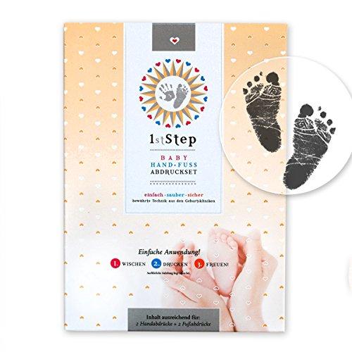 MAGISCHES BABY ABDRUCKSET – 14 x 10,5 cm (ca. A6) – ohne Farbe, ohne Gips, direkt auf beschichtetem Papier (6 Stk.) - von