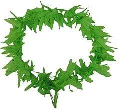 Novelty Tropical Green Pot Marijuana Leaf Fern Lei