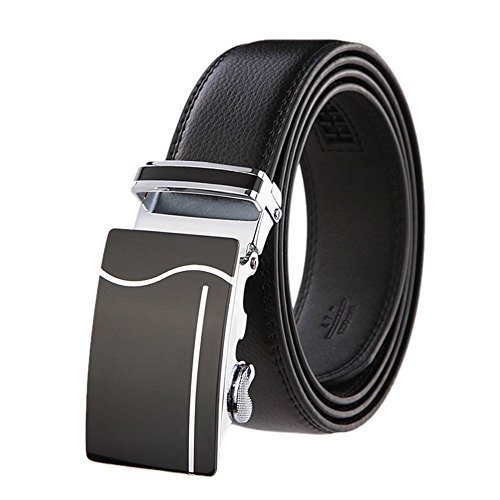 SAMGU Mode Hommes Noir Automatique Buckle cuir Ceintures Men Belt