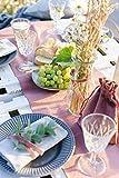 100%Mosel Tischläufer Samt, in Altrosa (28 cm x 5 m),Tischband aus Polyester in Matter Samt-Optik, edle Tischdeko für den Herbst & Winter, Dekoration zu besonderen Anlässen - 2
