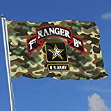 dfjdfjdjf Flagge/Fahne US Army First Ranger Battalion 3x5 Foot Flags Outdoor Flag 100% Single-Layer Translucent Polyester 3x5 Ft