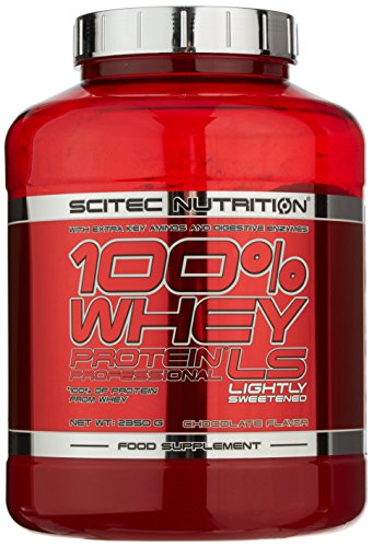 Scitec Nutrition Protein 100{4cc0236aa5c16fe4565d3636ebd6f5147f6de88270e2e373efae65089ebefae1} Whey Protein Professional, Schokolade mit wenig Zucker, 2350g