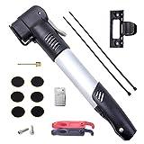DigHealth Mini Pompa Aria per Bicicletta, Alluminio, 120 PSI, Compatibile Valvole Presta e Schrader,...