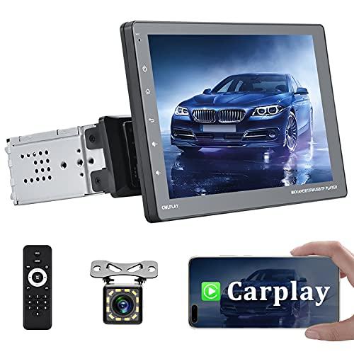 CAMECHO Apple Carplay Autoradio Singolo Din Con Bluetooth 9 pollici Touch Screen Stereo Auto Ricevitore FM Supporto Collegamento specchio+AUX+USB+Fotocamera di backup
