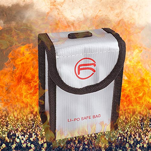 DJFEI FPV Combo Drone Lipo Akku Tasche Batterie Schutz Tasche, LiPo Batterie Explosionsgeschützte Sichere Tasche für FPV Combo Drone (A)