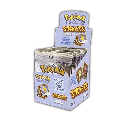Pokemon Sticker Serie 1 - Artbox Display mit 30 Booster Tüten - zusammen 300 Sticker