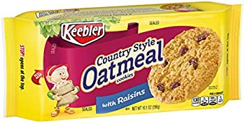 12-Count Keebler Country Style Oatmeal Cookies with Raisins, 10.1oz