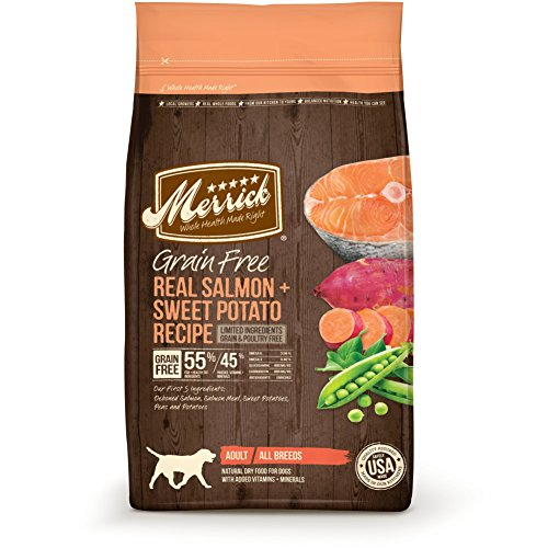 Merrick Grain Free Dry Dog Food Recipes, Salmon, 25 Pound