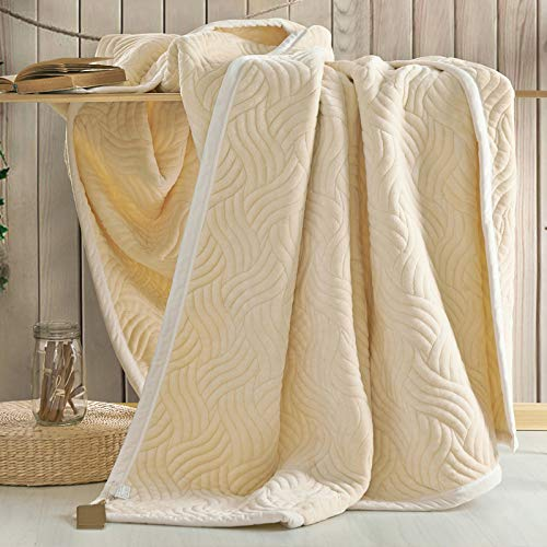 YIWANGO Nimen Double épais Couverture Unique Double Coral Cashmere Blanket Winter Wedding Gift,A5