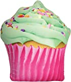 iscream Vanilla Icing Scented Cupcake Shaped 17' x 17' Photoreal Microbead Pillow