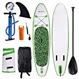 ANCHEER Inflatable Stand Up Paddle Board 10', Inflatable SUP Board, Double Layer iSUP Package...