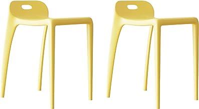 Plastikowe Krzesła Jadalne Zestaw 2, Nowoczesne Wózki Kuchenne Krzesła Restauracyjne, Przenośne Wysokie Stołki Boczne Krze...