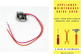For General Electric Refrigerator Defrost Thermostat Bimetal PP5234883PAGE4969 Bundle with PrismParts Appliance Maintenance Guide 2019 (Ships Separately)