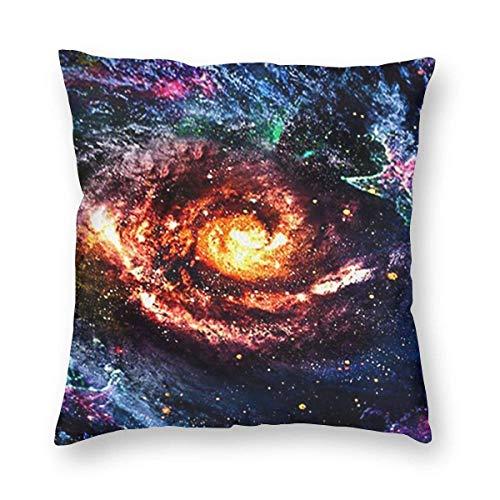 Fundas para Cojines Universo Galaxy Funda de cojín con impresión clásica Fundas de Almohada Decorativas para Regalos sofá decoración 45 * 45cm
