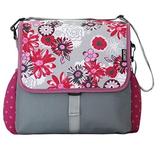 C-BAGS BETSIE Single Meadow & DOTS Gepäckträger Fahrradtasche Tasche Verschiedene Muster (pink-Rose)