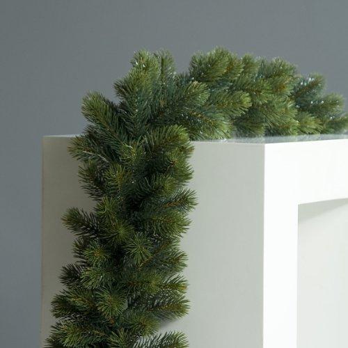 mucplants Künstliche Edeltannengirlande 180 cm Double Kunsttanne Künstliche Girlande Edeltanne Kunstpflanze