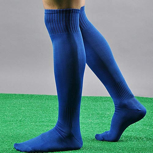 PS Pilot 2 Pairs Cotton Lycra Triple Elastic Football Socks (Blue)