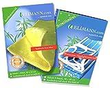 ELIMANN® natürlich rein, Bambustuch, 4er Set, 3 x Hochglanz Reinigungs-Tuch & 1 x FETT Plus Spüllappen, Vorreinigungs-Tuch. mit Bambus Viskose, für STREIFENFREIEN und FUSSELFREIEN Glanz