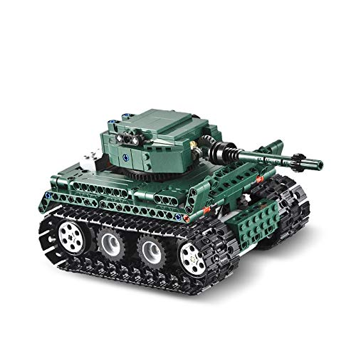 Bloques de construcción RC Tiger 1 Tanks Building Blocks 313pcs Compatible Technic Series Ww2 World German Army Bricks Juguete para Niños