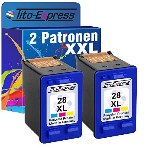 PlatinumSerie, cartucce per HP-27XL & HP-28XL, nero, 20 ml, colore 21 ml, contenuto XXL (5) 2x Color