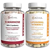 Ultimate Urinary Tract Health Bundle – D Mannose UTI Prevent and Liposomal Vitamin C, with Cranberry, Ascorbyl Palmitate, Enhanced Absorption Formula, Detox, Dietary Supplement, Bladder Support