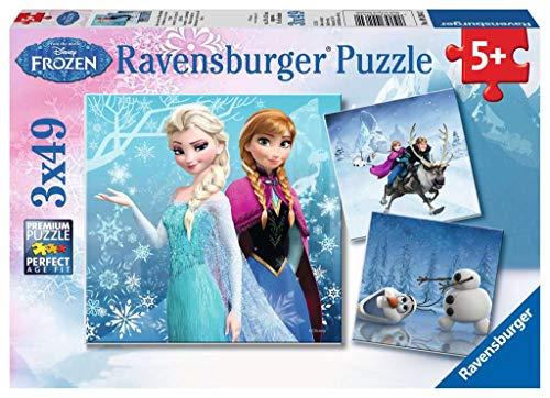 Ravensburger Kinderpuzzle 09264 - Abenteuer im Winterland - 3 x 49 Teile