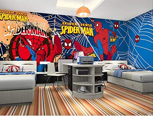 3D-Stereoskopisch TV Hintergrund und Schlafzimmer Wandbar Bar KTV Spiderman-Motiv Kinder Schlafzimmer