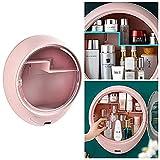 GUXINHOME Contenitore cosmetico a Parete, Bagno lavabo-plastica a Parete di Storage Box-per Accessori e Piccoli Oggetti (3 Colori),A