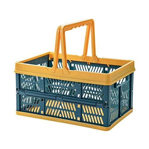 ECSWP Cestino piegante di immagazzinaggio Portatile Spuntino Bagagli Cestino di Picnic Shopping conveniente Mano Carrello Home (Color : D)