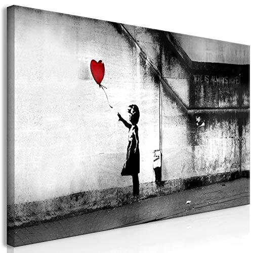 murando Cuadro Mega XXXL Banksy 200x100 cm Cuadro en Lienzo en Tamano XXL Estampado Grande Gigante Imagen para Montar por uno Mismo Decoración De Pared Impresión DIY Nina con Globo i-C-0113-ak-e