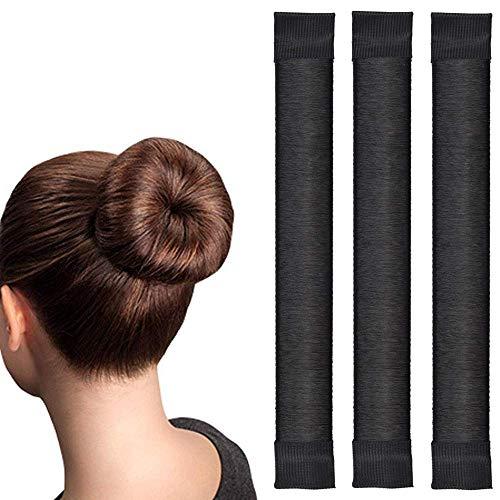Original Dutt Maker Hilfe - Dutt Band machen - Hair Bun Maker - 3x Set (schwarz)