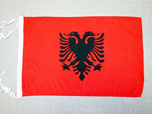 AZ FLAG Flagge ALBANIEN 45x30cm mit Kordel - ALBANISCHE Fahne 30 x 45 cm - flaggen Top Qualität