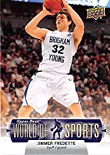 Jimmer Fredette basketball card (BYU Brigham Young NCAA) 2010 Upper Deck World Sports #61