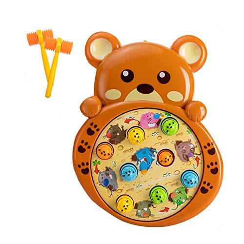 WFF Spielzeug Hammer Spielzeug for 6+ Monate for Kinder mit Batterie und Zwei Hämmer, Educations Spielzeug for Jungen und Mädchen zu Übung Hand-Augen-Koordination (Color : Frog)