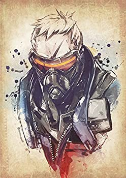 General ART Poster Overwatch Wanted Soldier 76 - Formato A3  42x30 cm