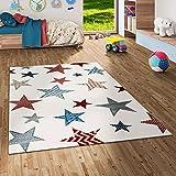Maui Kids - Alfombra infantil - Estampado con estrellas - color crema en 5 tamaños