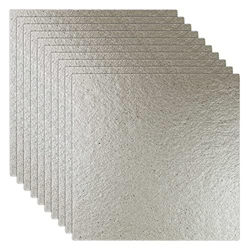 10 hojas universales para placa de mica, 130 x 130 mm, cortadas a medida para microondas y horno
