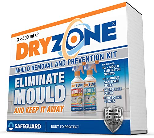 Dryzone Mould Remover and Prevention Kit (3 x 500ml) – The Definitive Long-Term Solution to Mould. Dual-Action Mould Remover & Sanitiser Spray.