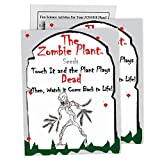 Zombie Plant Seed Packets (2) - Unique Easter Egg Stuffer or Party Favor. Comes with Ten Fun Ideas to Do with Your Zombie Plant (It 'Plays Dead' When You Touch It!)