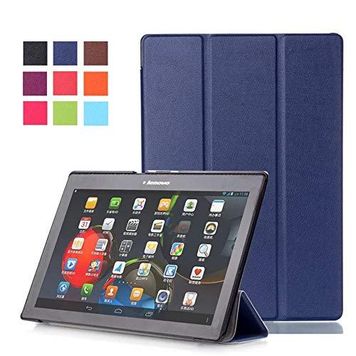 Funda para Lenovo Tab 2 A10 70F Soporte Funda de Cuero para Tab2 A10-70 70 A10-70F A10-70L A10-30 X30F Tablet 10.1-Azul Oscuro