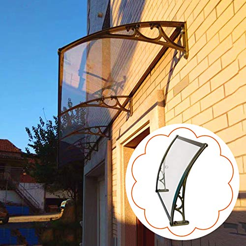 Front Door Rain Canopy Window Awning,outdoor Silent Roof Protects Shelter, For Patio Garden Porch, Resists Corrosion,brown