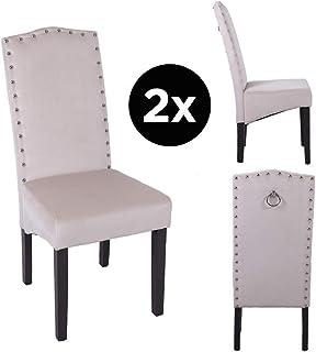 Juego de 2 sillas de Comedor de Terciopelo de Calidad Knockerback - Comedor, Cocina, sillas 2