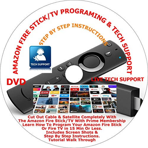 THE 2020 Ultimate 'SMART' Inter-Reactive AMAZON FIRE STICK/TV PROGRAM TECH SUPPORT DVD PLUS 2 REMOTE CONTROL COVERS & 2 WIRELESS USB POWER CABLES FREE LIVE PHONE & EMAIL TECH SUPPORT