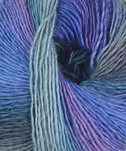 Lang Yarns 50 g Mille Colori Baby Fb. 88 Flieder-Petrol-blau Wolle Strickgarn Häkelgarn * für Bekleidung, Socken und Accessoires * NEU