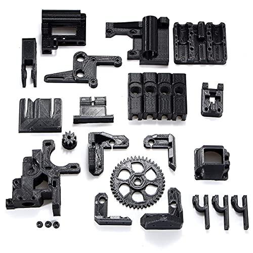 JRUIAN Printer Accessories Y-Longhair ABS Black Filament Black 3D Printed Accessories Parts DIY Kit for RepRap Prusa i3 3D Printer